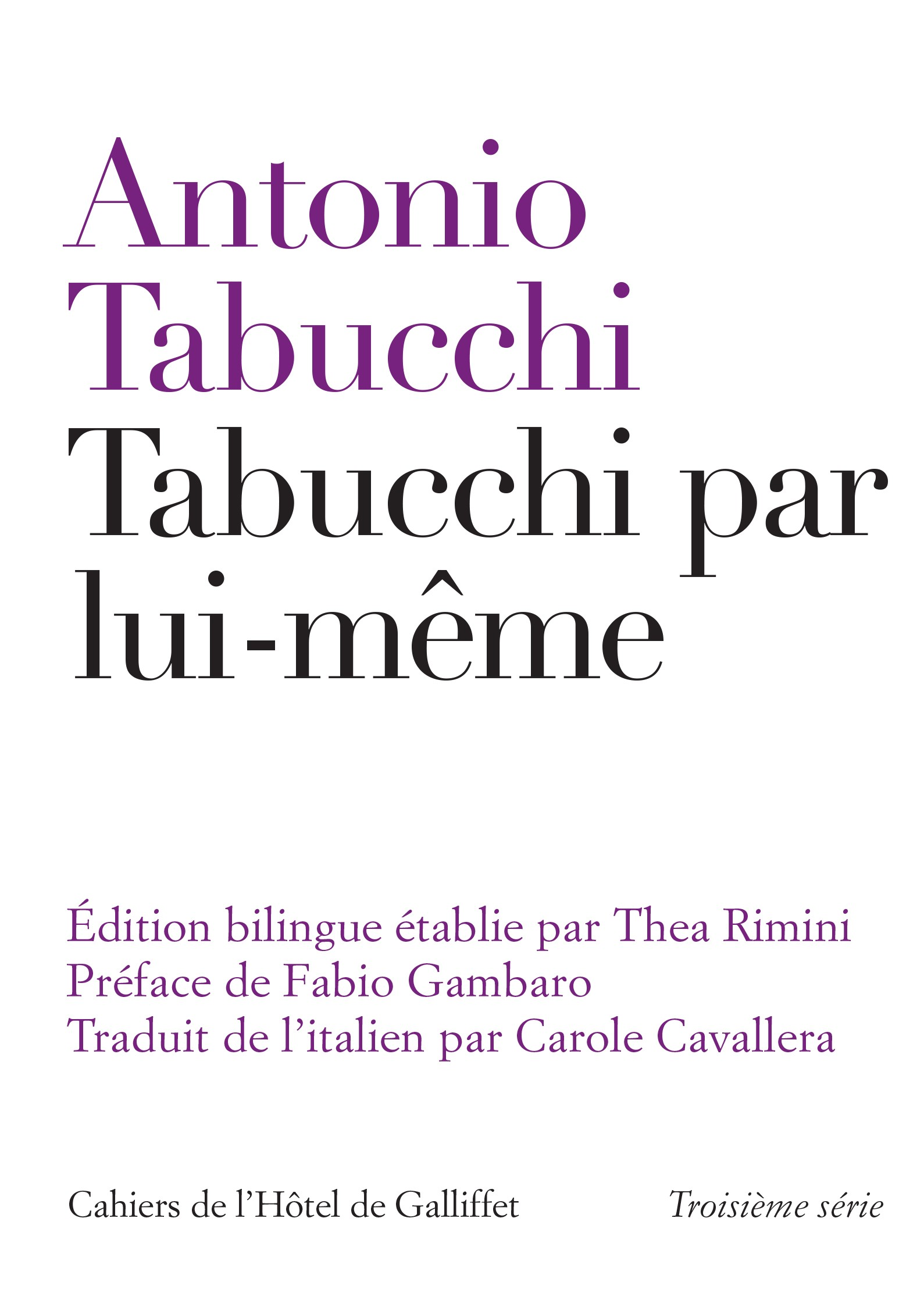 A Parisian book series dedicated to Italian literature