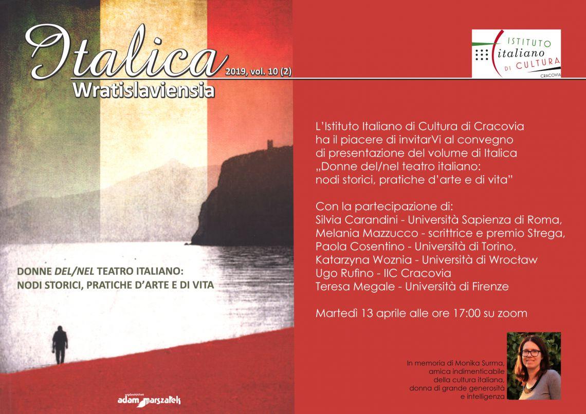 Da Cracovia: Donne del/nel teatro italiano: nodi storici, pratiche d'arte e di vita