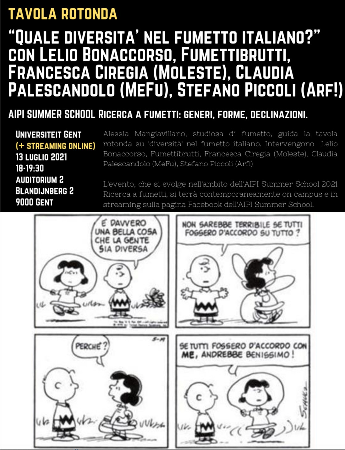 Ghent: seminar on Italian comics.