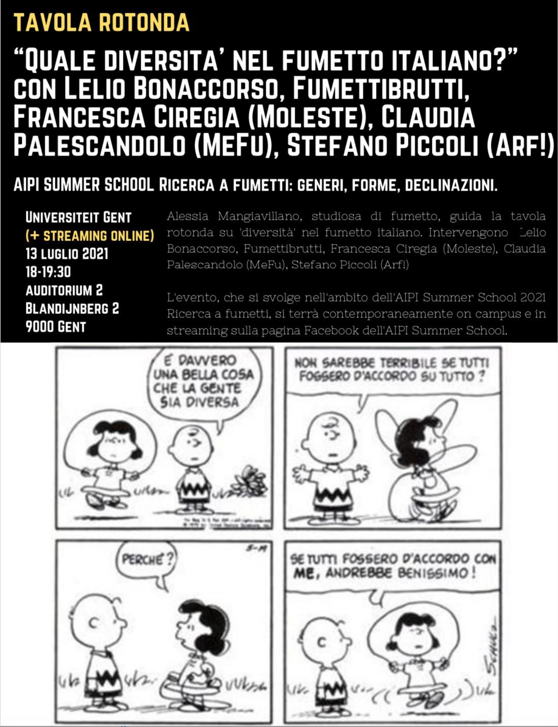 Gand : séminaire sur la bande dessinée italienne.
