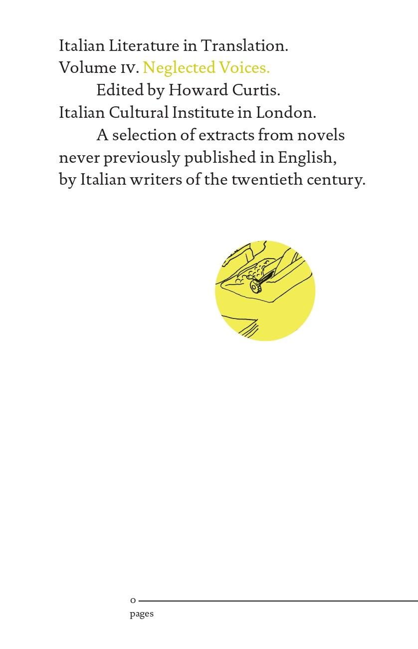 From London:Italian Literature in Translation Vol. IV